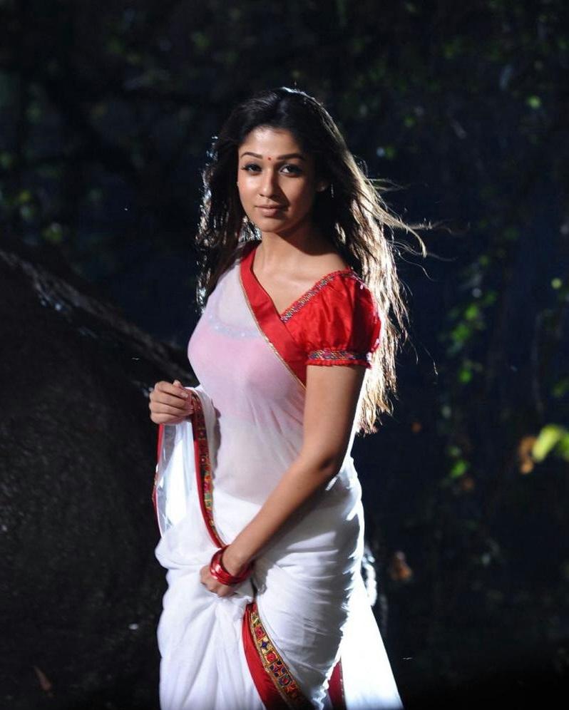 Nayantara Latest Photos In Hot Spicy White Saree