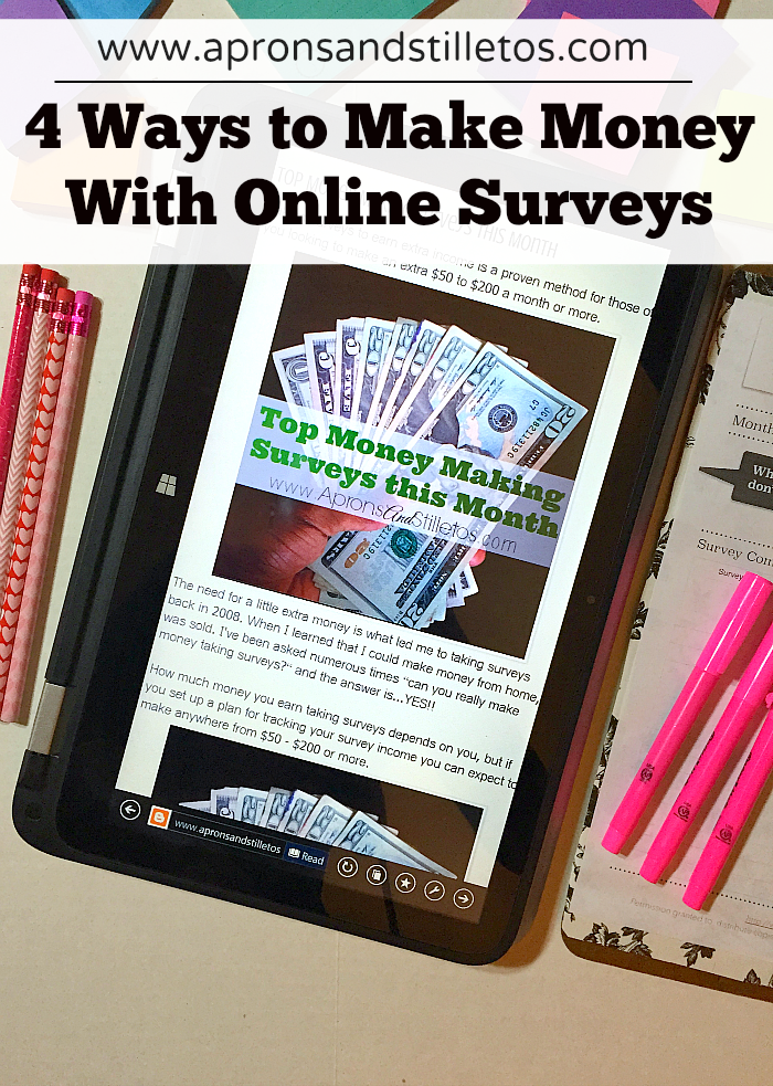 4 ways to make money with online surveys