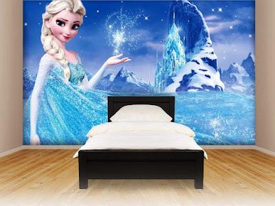 Desain Kamar Minimalis Anak Perempuan Tema Frozen
