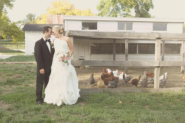 Pink DIY Kansas wedding by Amanda Perry Photography