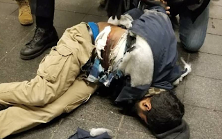 Terror attack in New York: Footage shows the moment pipe bomb malfunctions and explodes prematurely, injuring ISIS-inspired Bangladeshi, 27, wearing a suicide vest