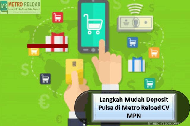 Langkah Mudah Deposit Pulsa di Metro Reload CV MPN