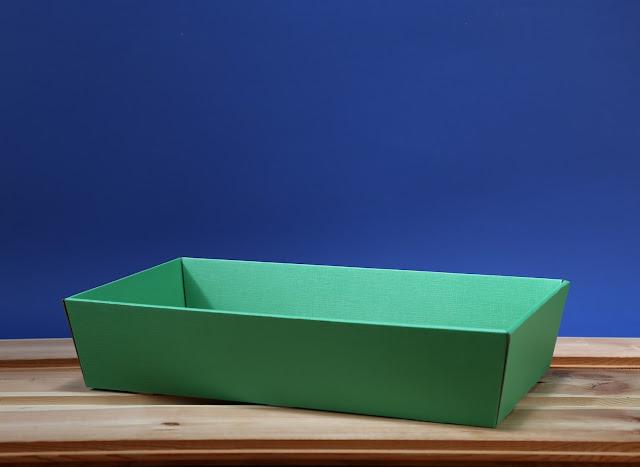 Kosz prezentowy prostokątny 25 x 46 zielony