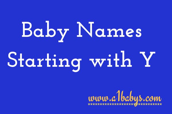 baby girl names starting with Y