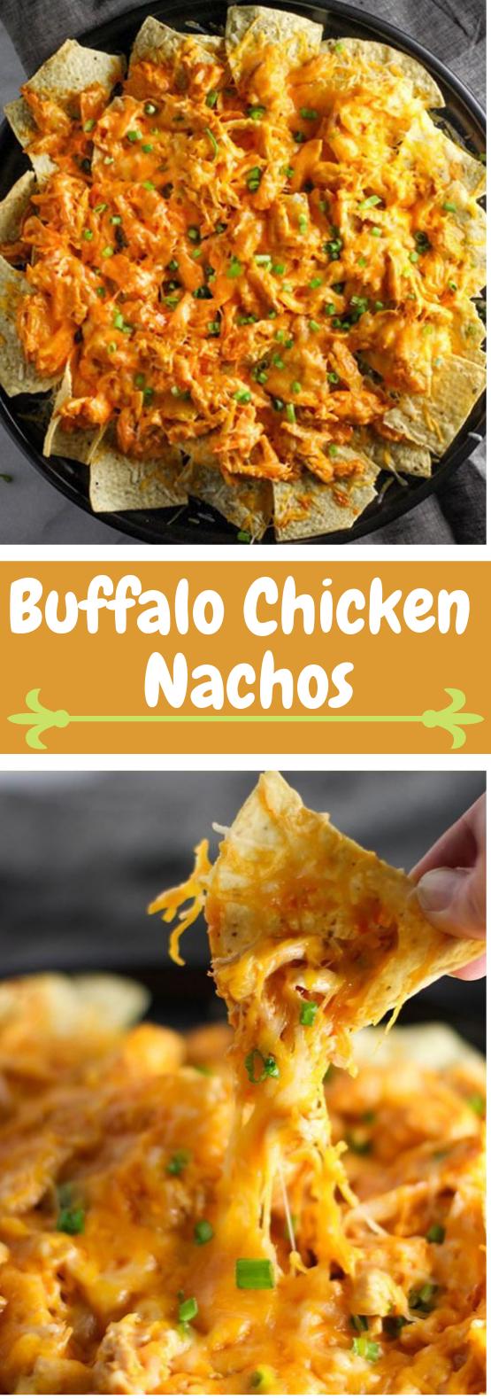 BUFFALO CHICKEN NACHOS #dinner #buffalo