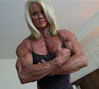 Female muscle - awesome biceps and abs women bodybuilding