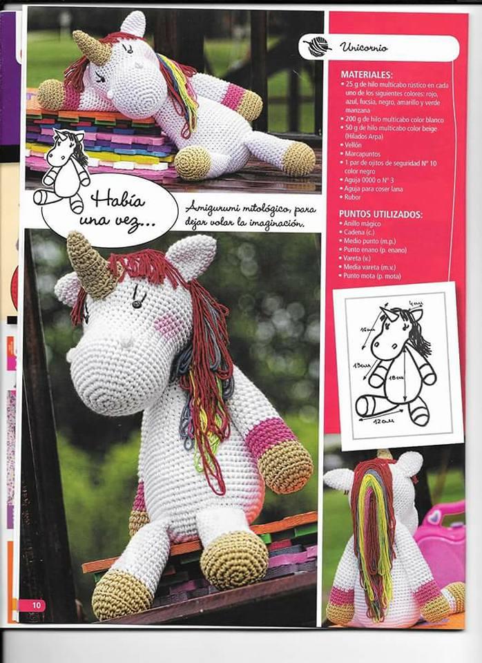 Amigurumi Unicornio Patron Gratis : PATRONES GRATIS DE CROCHET: AMIGURUMI UNICORNIO a crochet ...