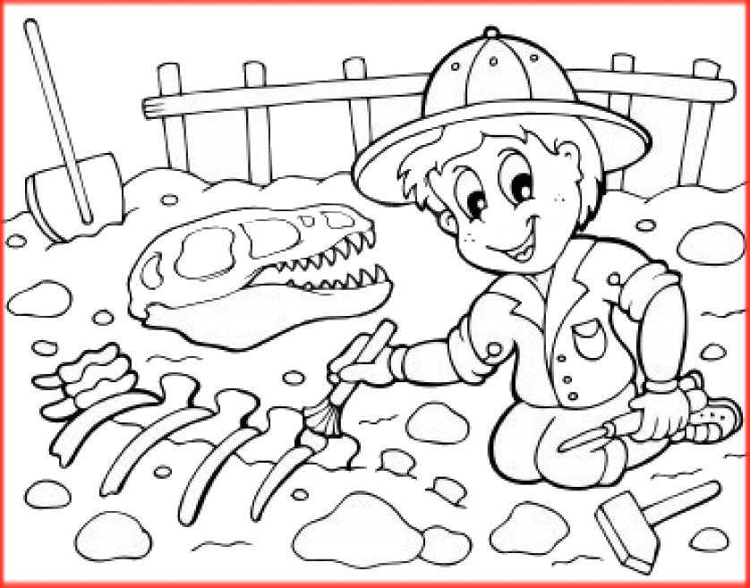 Dinosaurios Para Colorear: Fósiles Y Dinosaurios Para