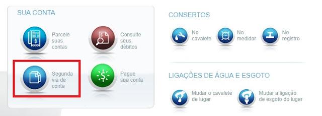 2 via Sabesp - Agência virtual Sabesp