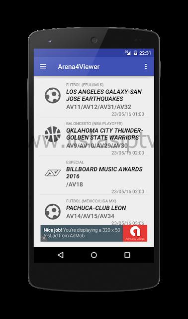 Arena4Viewer - Apk Full - Todos os eventos esportivos Acestream e Sopcast em seu Android