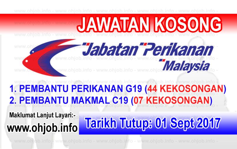 Jawatan Kerja Kosong Jabatan Perikanan Malaysia logo www.ohjob.info oktober 2017