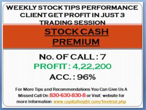 Stock Cash Premium Tips