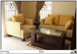 Kursi sofa set minimalis model milo