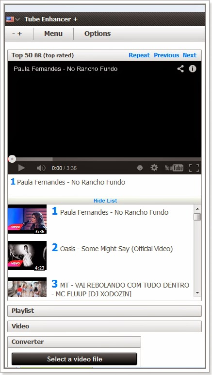Tube Enhancer assista videos deYoutube