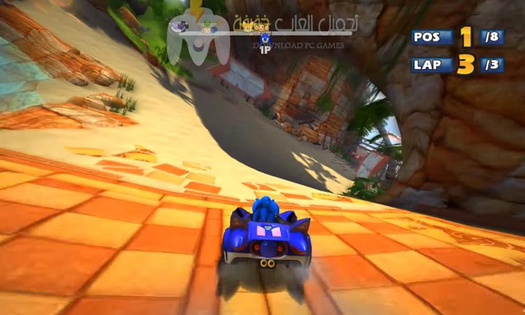 تحميل لعبة Sonic And Sega All Stars Racing للكمبيوتر