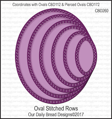 ODBD Custom Dies: Oval Stitched Rows