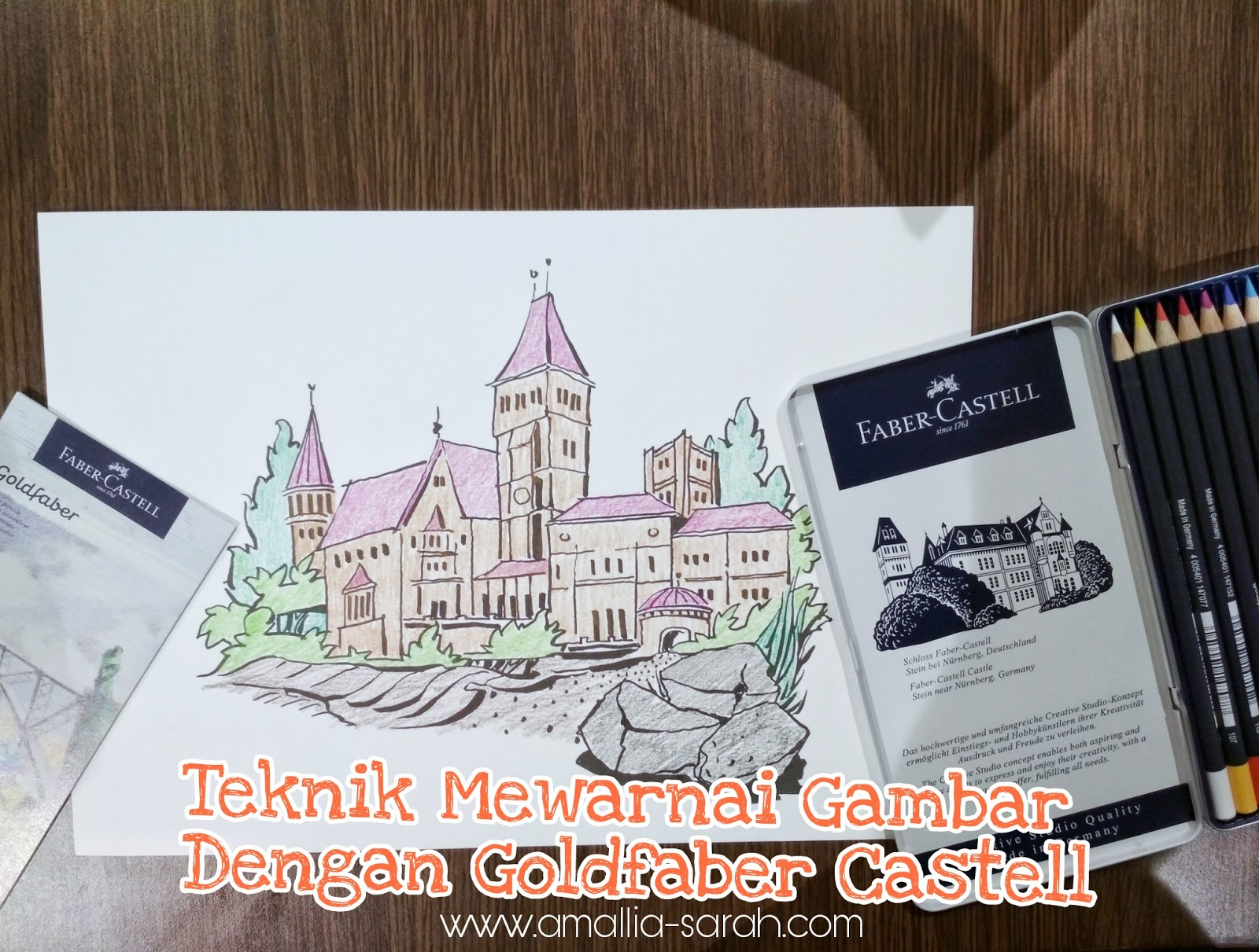 Teknik Mewarnai Gambar Dengan Goldfaber Castell