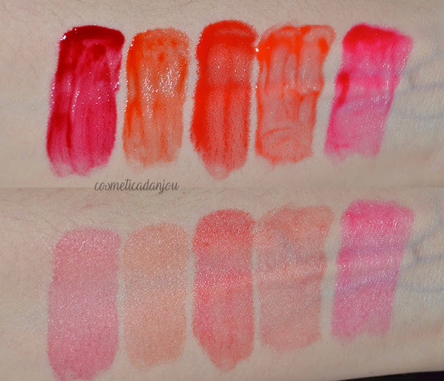 Peripera Sugar Glow Tint Collection Review swatches