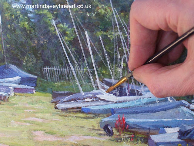 weston shore boat club yard Martin davey WIP art