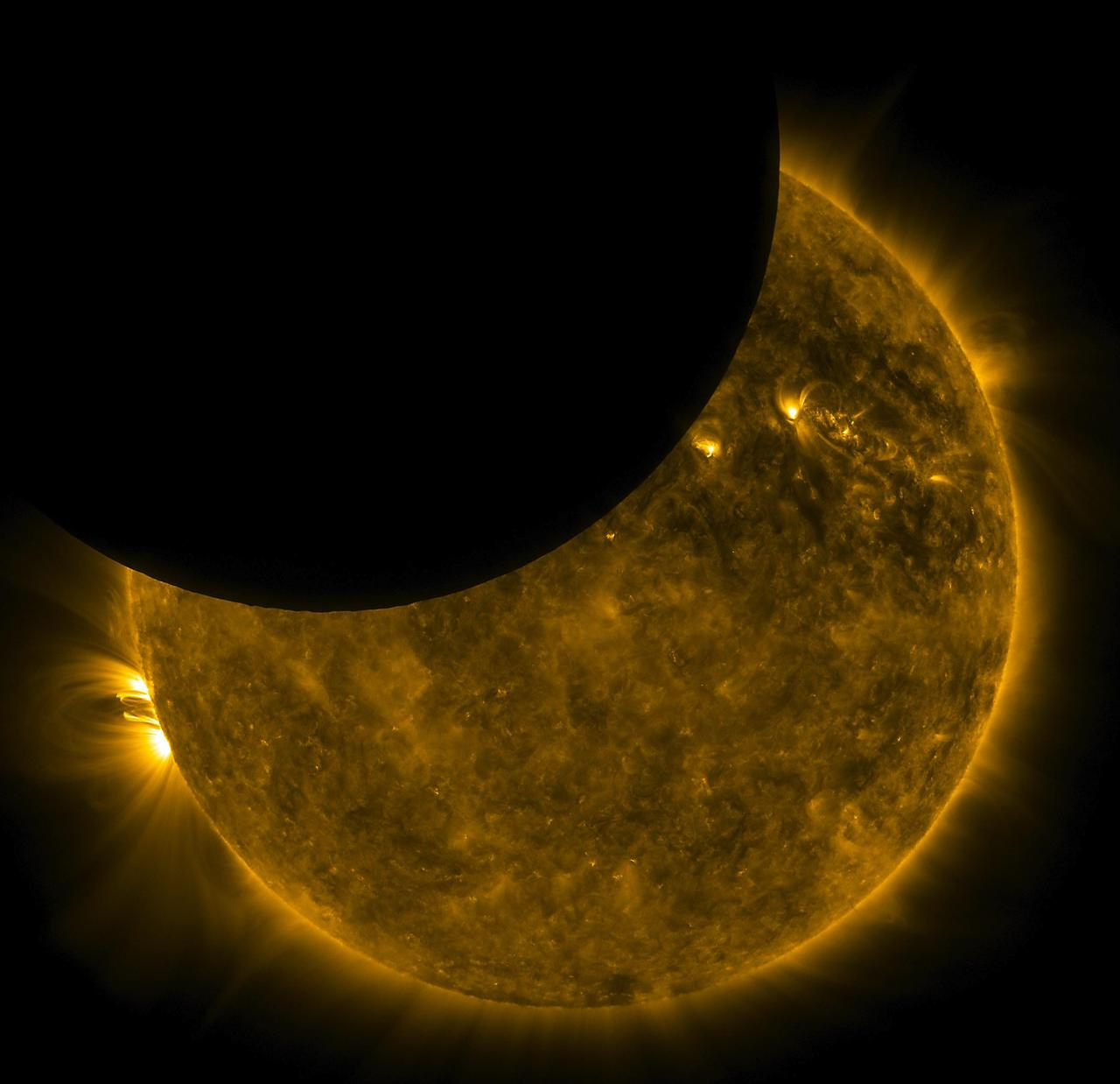 Partial Solar Eclipse. October 23, 2014