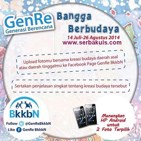 Kontes Foto Berhadiah 2 HP Android dari GenRe BkkbN