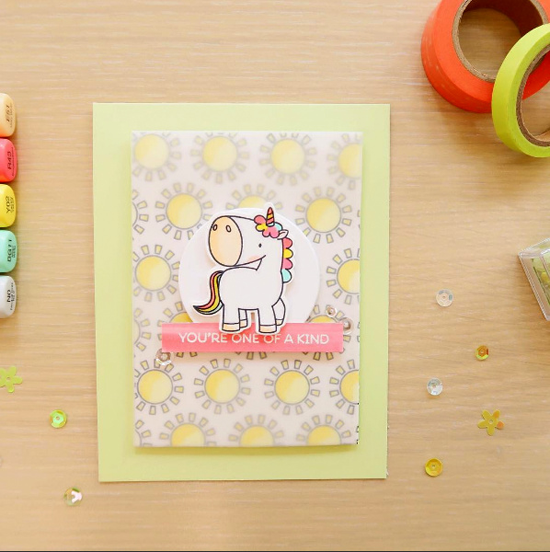 Birdie Brown Magical Unicorns stamp set and Die-namics - Laura Sterckz #mftstamps