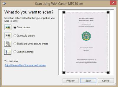 cara scan dokumen dengan paint