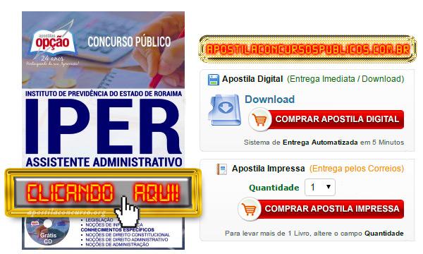 Apostila Concurso IPER 2017 PDF Assistente Administrativo
