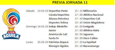 Liga Águila I 2019 - Jornada 11