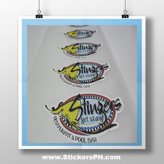 Die-Cut Logo Stickers - Stingers Restaurant & Pool Bar