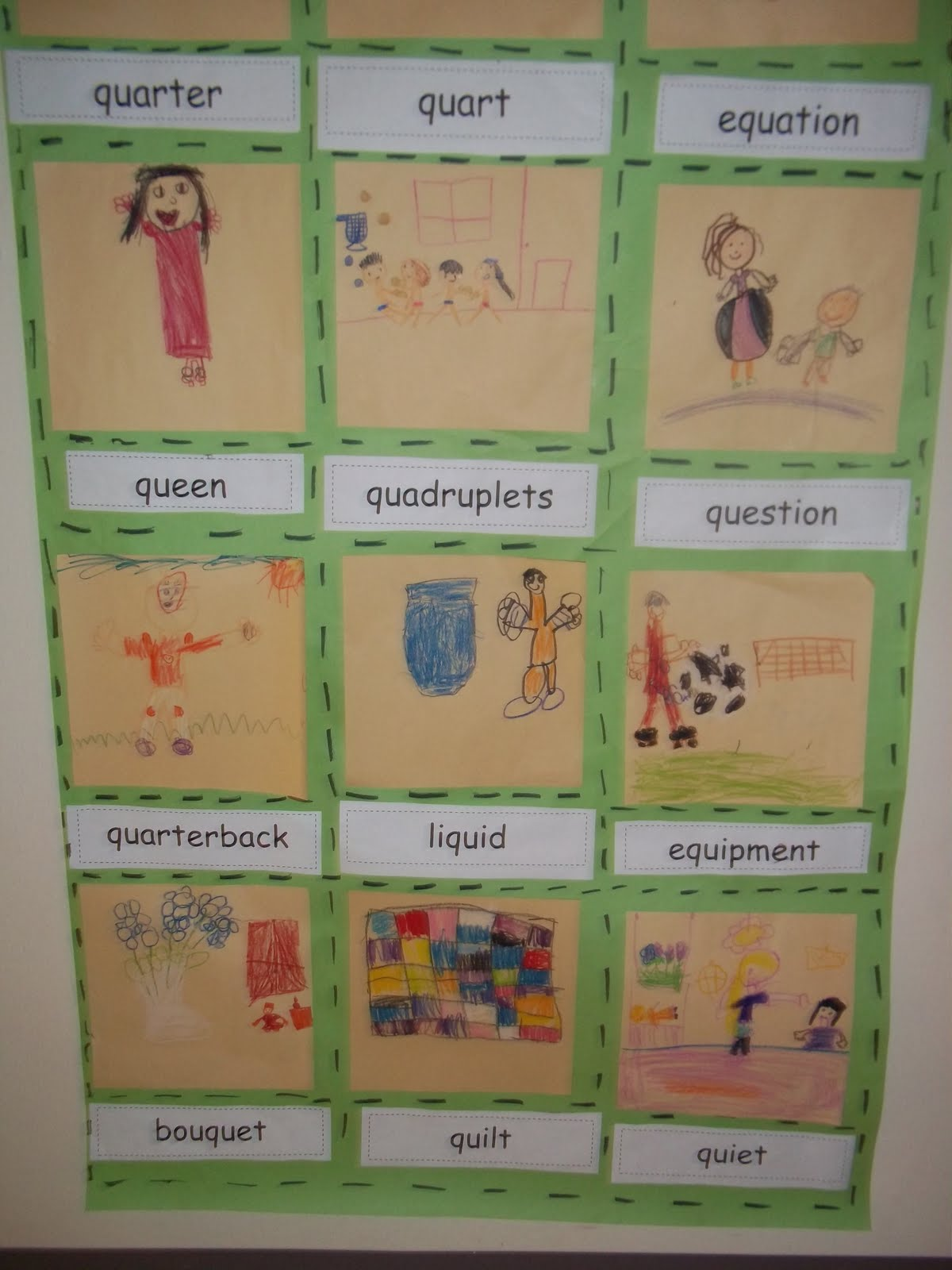 Mrs Wood S Kindergarten Class Q Is For Quilt