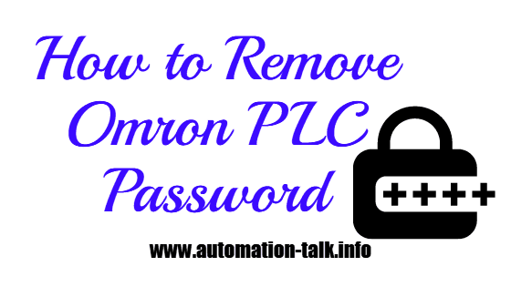 How to Remove Omron PLC Password