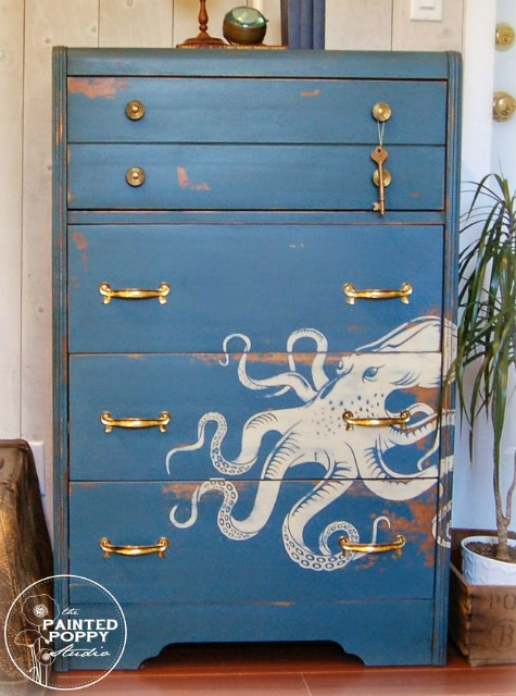 Painted Octopus Dresser