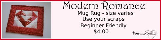 Modern Romance Mug Rug