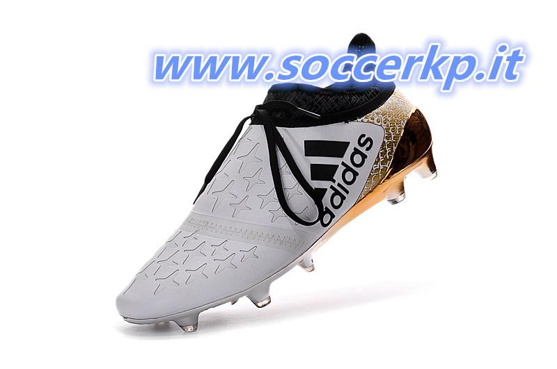 uk availability c8de5 dce00 Caratterizzato da un bianco e oro superiore, le Adidas x 2016 Stellar Calcio  stivali sono progettati per i giocatori che desiderano una scarpa che si ...