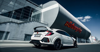 New Honda Civic type R in Nurburgring Circuit