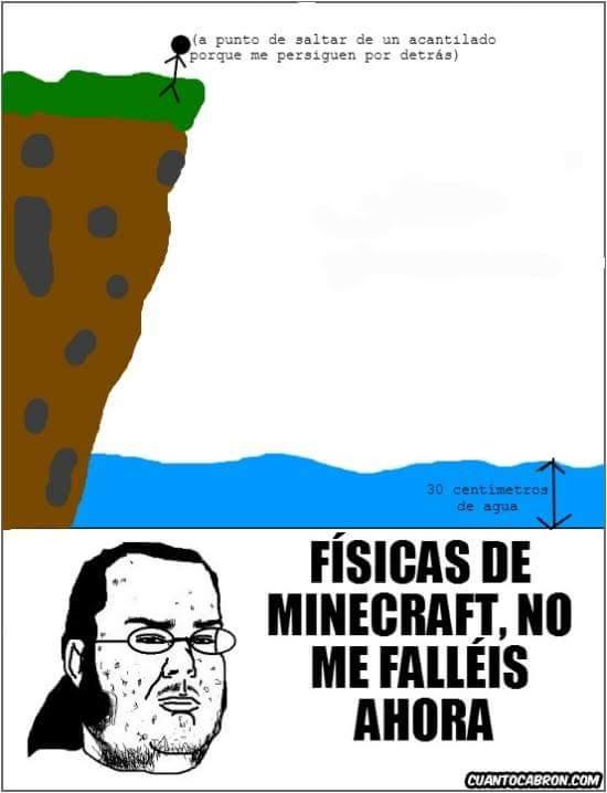 La física según #Minecraft