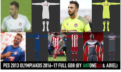 PES 2013 Olympiakos 2016-17 Full GDB BY ANTONELLI & ABIEL