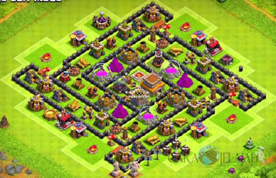 Base Hybrid TH 8 Clash Of Clans Terbaru Tipe 20