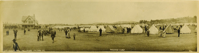 Military refugee camp at the Presidio, 1906 California Historical Society