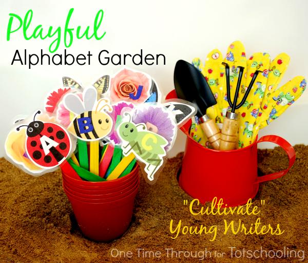 Playful Alphabet Garden With Free Printable