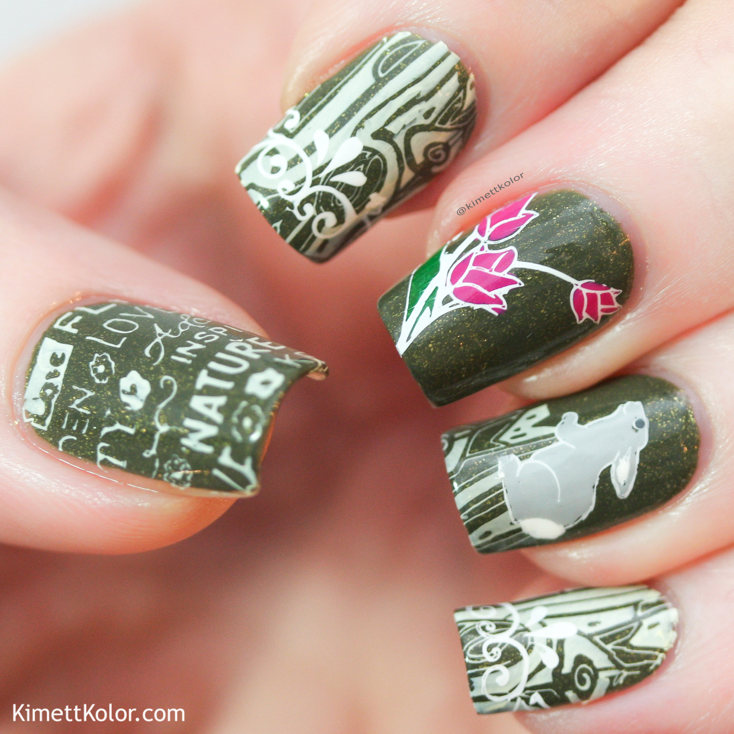 KimettKolor Nature Stamping Nail Art
