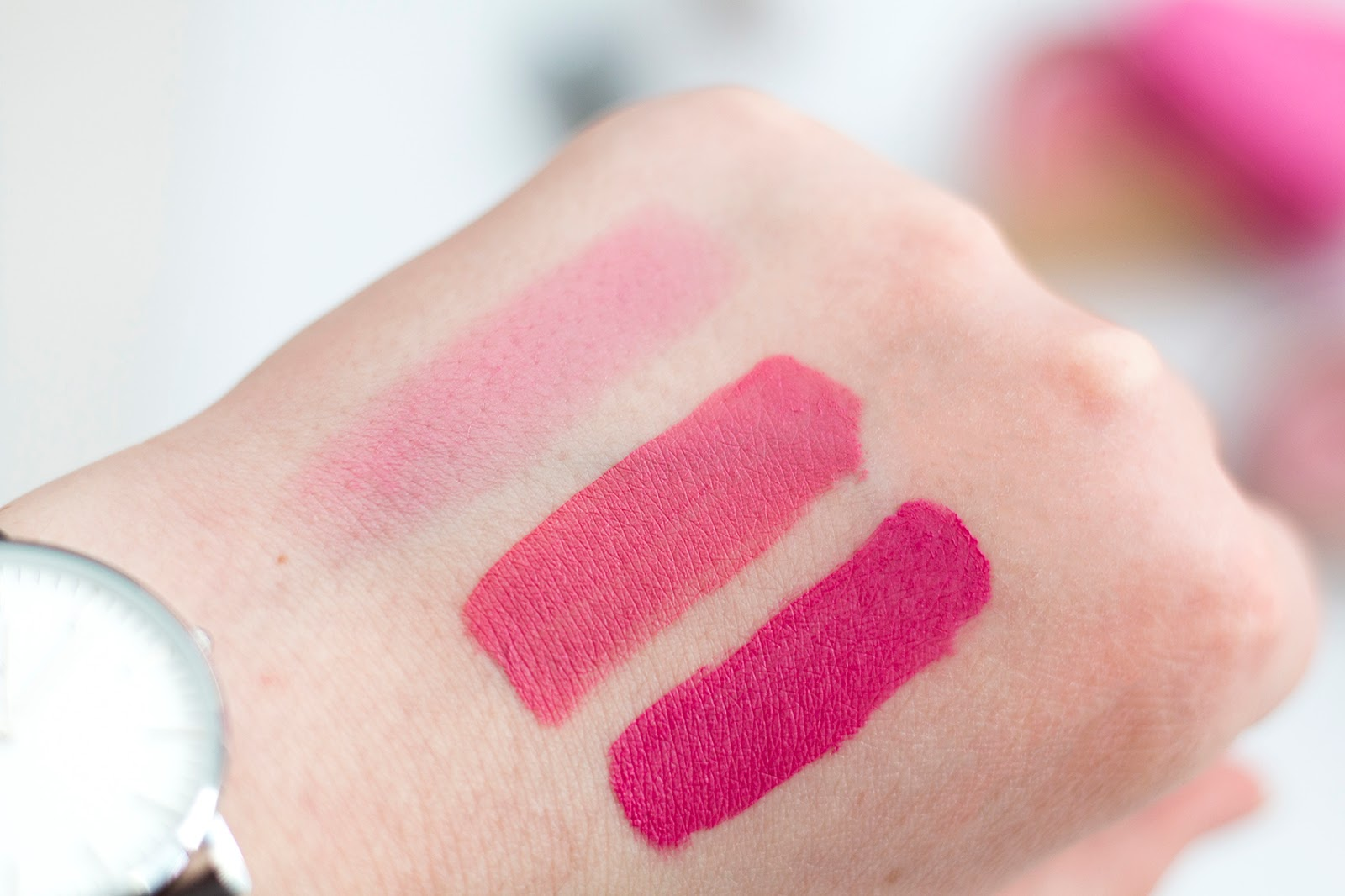 NYX Istanbul and Milan & Revlon Strawberry Shortcake Swatches