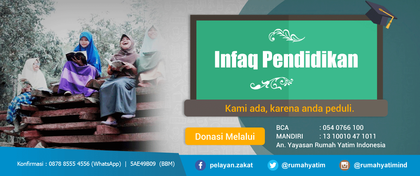 Infaq Pendidikan Yayasan Rumah Yatim Indonesia