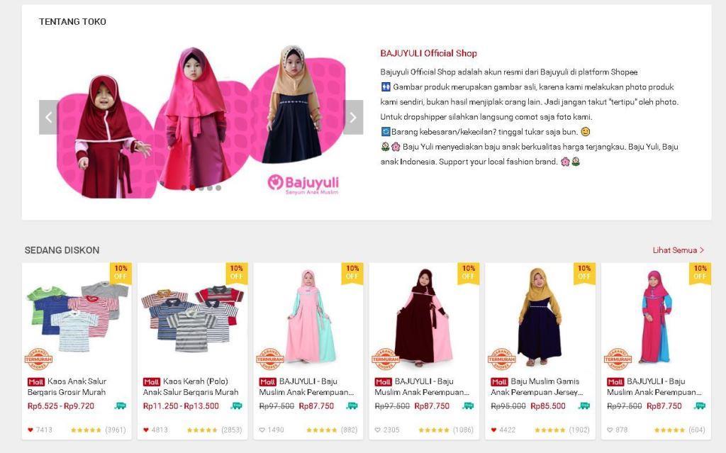 Bisnis baju muslim anak di lebaran 2018