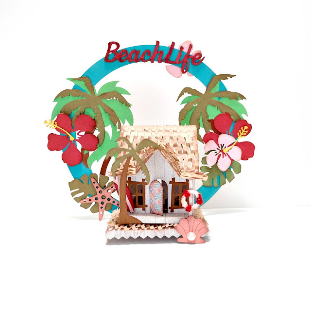 Summer Loving Beach Life Beach House by Dana Tatar for FabScraps