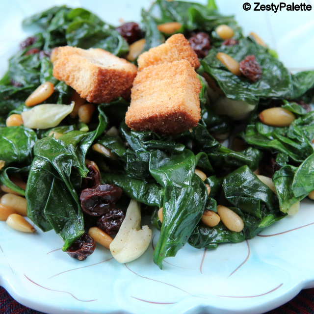 Spinach And Pine Nut Rolls: Spinach Pine Nut Salad