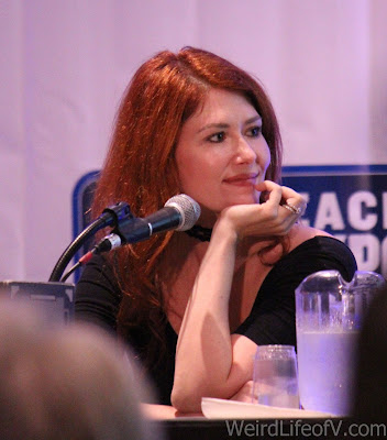 Jewel Staite at the Firefly reunion panel at LBCC 2016