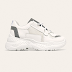 Pantofi sport de dama albi cu talpa groasa simpli pentru primavara