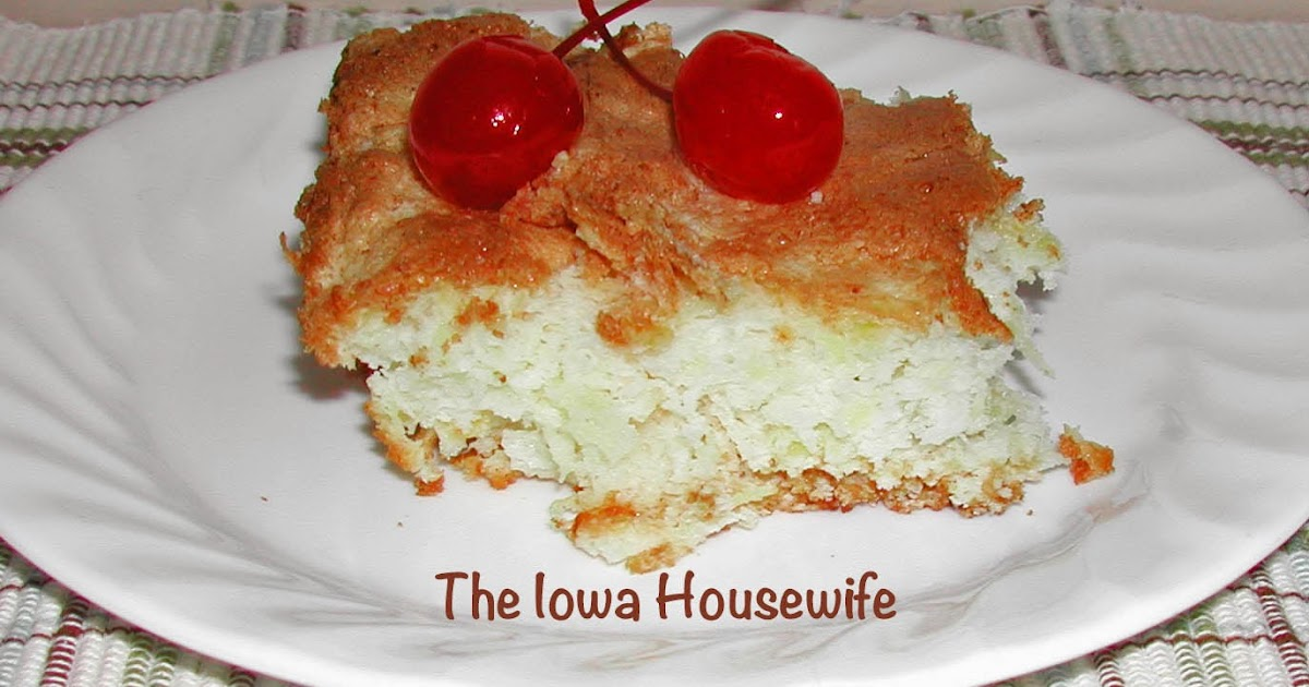 The Iowa Housewife Angel Food Pineapple Cake
